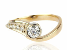Solitär Herren Damen 585 Gelb Gold 0,65 ct Diamant Brillant Ring