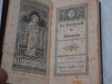 ANTIQUE PRAYER FRENCH  BOOK SACRED HEART JESUS PRINTED 1889