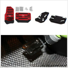 2 Pcs Red Sports Racing Automatic Autos Interior Non-Slip Brake Foot Pedals Pads