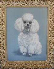 Poodle Painting by Robert C Hickey BEAUTIFUL White Toy Poodle Signed Original
