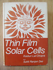 Thin film, Solar cells Solar energy conversion Photovoltaics CHOPRA 1983