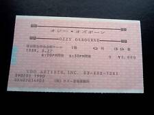Ozzy Osbourne   ticket Japan 27/02/89