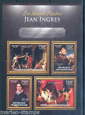 CENTRAL AFRICA 2012 JEAN INGRES SHEET MINT NH