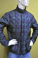 Polo Ralph Lauren Corduroy Quilted Jacket Coat Green Black Plaid Size Medium