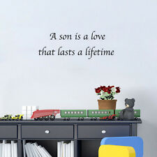 A Son Is A Love That Lasts A Lifetime Wall Art House Decor Bedroom Decal Sticker