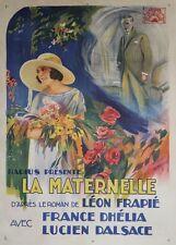 """""""LA MATERNELLE"""" Affiche originale entoilée (Gaston ROUDES / France DHELIA)"""