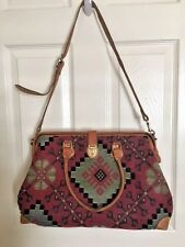 Vintage Tapestry Bag by IT'S IN THE BAG Western Kilim Look Shoulder Bag Leather