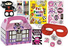 Pre Filled Girls Ninja Party Box - Karate Martial Arts Parties Activity Bags