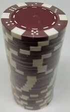 Poker Chips (25) Burgandy Dice Mold 11.5 gram Clay Composite FREE SHIPPING *