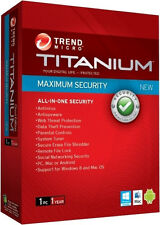 NEW Trend Micro Maximum Security 2012 Security Software   [FREE UPGRADE TO 2017]