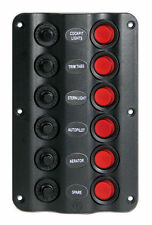 """Pannello elettrico modello """"Wave"""" - 6 interruttori  NAUTICA BARCA GOMMONE QUADRO"""