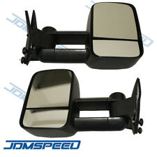 Towing Manual Side View Mirrors Left & Right Pair Set for 88-98 Chevy GMC Truck