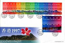 Hong Kong 1997 New Definitive Stamp S/S FDC`[