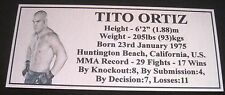 "MMA TITO ORTIZ Champion Silver Photo Plaque ""FREE POSTAGE"""