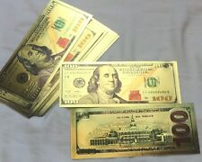 New Style U.S. Note $100 One Hundred Dollars 24kt .999 Gold Banknote + Sleeve