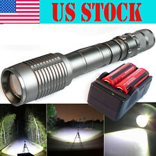 Zoomable Fucus6000 Lumens CREE XML-T6 LED Flashlight Torch+18650 Battery&Charger