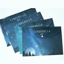 """""""Cinderella"""" File Folder Document Pack of 4 Plastic Study One Layer A4 Size Cute"""