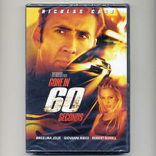 Gone In 60 Seconds 2000 PG-13 action heist robery movie, new DVD N Cage, A Jolie