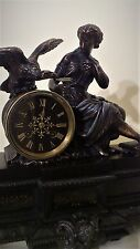 A 19th Century French Figural Mantel Clock by Japy Freres.