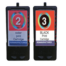Non-OEM Replaces No 2 & 3 For Lexmark X2480 X2580 Ink Cartridges