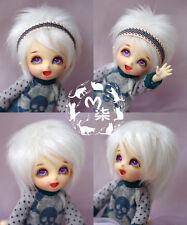 "5""-6""14cm BJD fabric fur wig white color for AE PukiFee lati 1/8 Doll Antiskid"