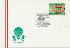 A 14.1.1975, 4 versch. SST INTERNATIONALES JAHR DER FRAU 1975 - FRAU IST PARTNER