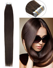 7A Remy Brazilian Human Hair Extensions Seamless Tape in Skin Weft Straight Hair