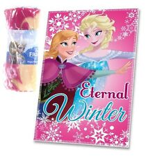 OFFICIAL NEW DISNEY FROZEN PRINCESS PINK ELSA ANNA FLEECE CHILDRENS BLANKET