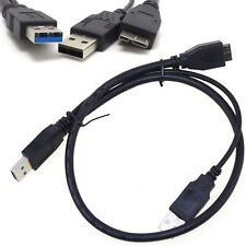"USB 3.0 A Male to Micro USB 3 Y cable with extra usb Power for 2.5"" Mobile HDD"