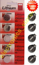 3V CR2032 Micro Lithium Coin Battery With CR2032 Coin Battery Holder - 5 Pieces