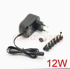 EU 3V/4.5V/5V/6V/7.5V/9V/12V 1A Universal AC Plug-in Power Wall Supply Adapter