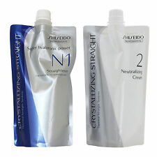NEW Shiseido Professional Crystallizing Hair Straightener N1 + Neutralizer