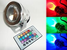 10W RGB Flood LED Light Bulb Lamp 12V Waterproof IP65 Outdoor + Remote Control