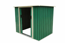 Charles Bentley 5Ft X 3Ft Metal Storage Chest Storette Small Shed - Green