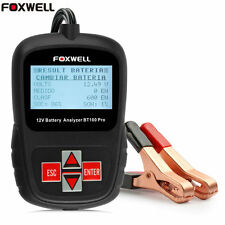 Car Tester Analyzer Battery 12V for Flooded, AGM, GEL Foxwell BT100 Pro Digital