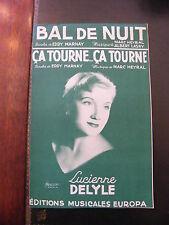 Partition Bal de nuit Heyral Lasry Ca tourne ça tourne Lucienne Delyle