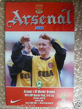 1999/2000 UEFA Cup Quarter Final Arsenal v SV Werder Bremen, 16 March