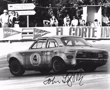 John Fitzpatrick SIGNED 10x8 Broadspeed Ford Escort RS1800 , Montjuich Park 1972
