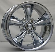 "17"" Chrome MD Classic Wheels (4) 17x8 Inch 5x120.65 5 Spoke Rims Corvette 68-82"