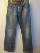 Energie by Sixty Med Wash Distressed Button Fly Jeans Size 31X35 Made in Italy