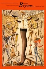 VINTAGE 1960'S SALVADOR DALI SURREAL HOSIERY ADVERTISEMENT A3 POSTER ART PRINT