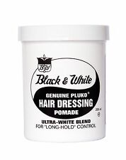 BLACK & WHITE HAIR WAX GENUINE PLUKO HAIR DRESSING POMADE 200ml *NEW*