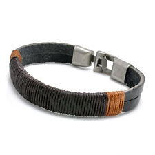 Fashion Men's Surfer Vintage Hemp Wrap Leather Wristband Bracelet Jewelry NEW