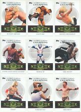 """""""FIRST CLASS CHAMPIONS COMPLETE SET 1-20"""" TOPPS WWE WRESTLING 2012"""