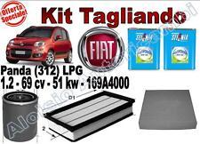 KIT TAGLIANDO OLIO SELENIA M.GAS 5W40 + FILTRI FIAT PANDA (312) 1.2 LPG 2012 --