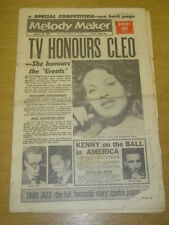 MELODY MAKER 1962 JANUARY 20 CLEO LAINE BOBBY VEE KENNY BALL DANKWORTH +