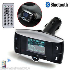 "Bluetooth 1.5"" LCD Car Kit MP3 Player FM Transmitter Modulator SD MMC USB Remote"