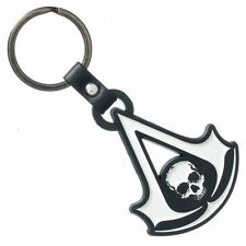 Assassins Creed 4 IV Black Flag Logo Metal Keychain KeyRing Bag Zipper Pull NEW