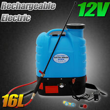 16L RECHARGEABLE BATTERY BACKPACK KNAPSACK WEED SPRAYER ELECTRIC GARDEN 12v 240v