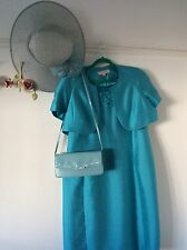 size 24 mother of the bride jacqes vert dress suit/hat/handbag set
